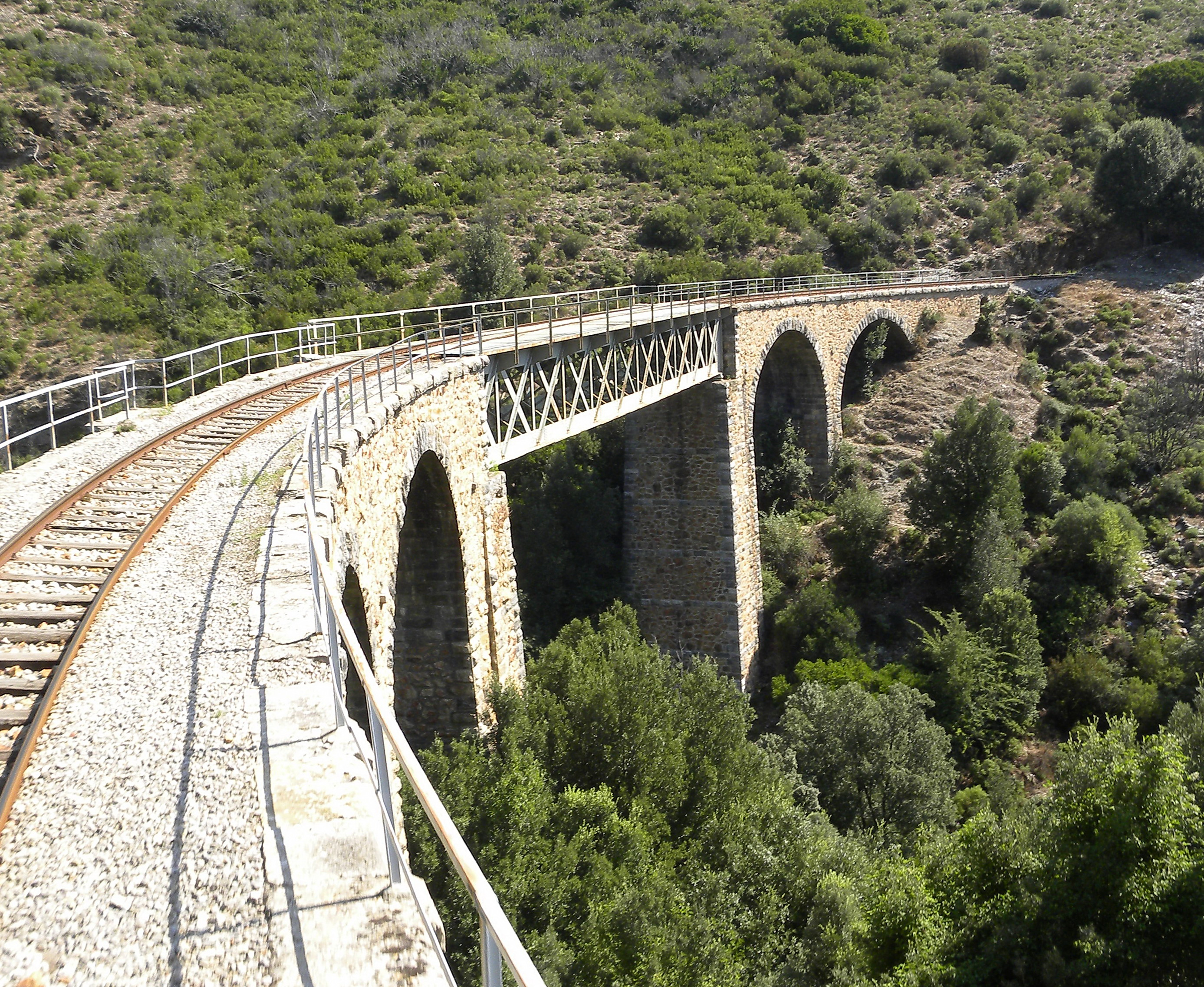 Viaduct en rails